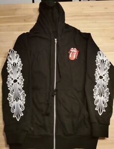 chrome hearts X rolling stones hoodie