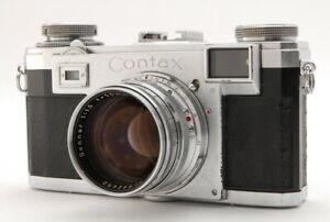 [EXC+++++] Contax Zeiss Ikon IIa Rangefinder w/ Sonnar 50mm f1.5 Lens JAPAN 2982