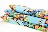 Indian Cotton Cambric Fabric Dress Material 5 Yard Hand Screen Print Craft Throw