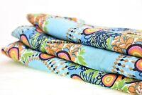 Indian Cotton Cambric Fabric Dress Material 5 Yard Hand Screen Print Craft Throw