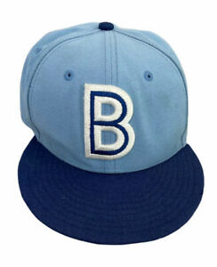 Buffalo Bisons Minor League Baseball New Era Blue Embroidered Fitted Hat 6 7/8