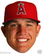 MIKE TROUT The Los Angeles Anaheim ANGELS - Full Head Window Cling Decal Sticker