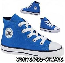 Baby Kids bambino BOY GIRL Converse All Star Blu Sneaker alte Boot Taglia UK 4