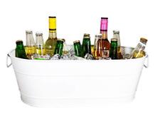 Hammered Oval Beverage Bucket - White *B Grade* (Pack of 2)