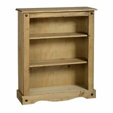 Corona Low Bookcase Distressed Waxed Pine