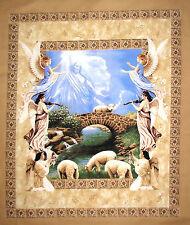 "Angel Jesus Religious Fabric ~ 100% Cotton 36"" Panel ~ Amazing Grace CP50413"