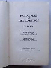 Principles of Meteoritics by E.L. Krinov (Rare Hardcover, 1960)- in English