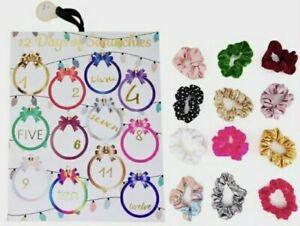 12 Days of Scrunchies Multi Tone Scrunchie Set Holiday Christmas Advent Calendar