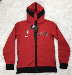 Nike NBA Chicago Bulls Showtime Therma Flex Hoodie Mens Size Large Red CN4016