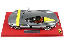 Ferrari Monza SP1 grigio metallizzato 1/18 lim.ed.440 pcs BBR  P18164A
