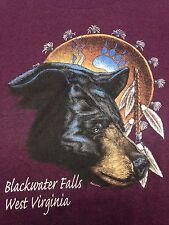 Vintage Blackwater Falls West Virginia  T-Shirt Bear Wilderness Native American