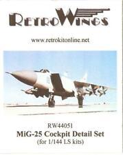 RetroKits Models 1/144 MIKOYAN MiG-25 COCKPIT DETAIL SET Resin Update Kit