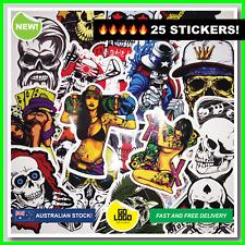 25pcs SKULLS Stickers & SEXY GIRLS Horror Sticker Bomb Skate Decals JDM Car Rude