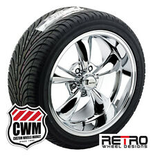 18 inch 18x8 / 18x9 Retro Chrome Wheels Rims Tires R-T5 for Olds Cars 1966-1977