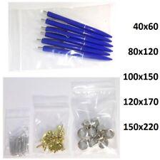 Druckverschlussbeutel Wiederverschließbare Beutel Zip Bag - ☞ ab 10 Stück