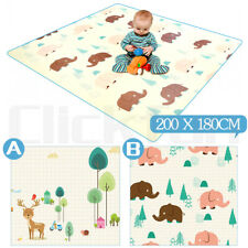 2mx1.8m Baby Kids Floor Play Mat Rug Picnic Cushion Crawling Mat Waterproof NEW