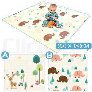2mx1.8m Baby Kids Floor Play Mat Rug Picnic Cushion Crawling Mat Waterproof NEW