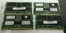 Lot of 4 Cisco 15-7331-01 128MB PC2100 SoDIMM MEMORY Modules
