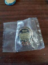 Vintage Michigan Labor Museum Lapel Pin Tie Tack Flint Union Auto UAW Sit Down