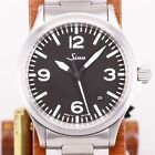 Sinn 556A Automatic Black Silver Stainless Round Analog 39mm Men's Free shipping