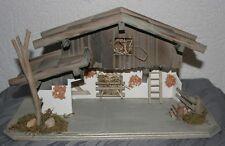 Krippe Weihnachten Holz 37 cm x 19,5 cm x 15 cm  Krippenstall Futterplatz