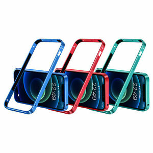 Luxury For iPhone 12/12 Pro/Max Aluminum Metal Bumper Case Cover Frame Backless