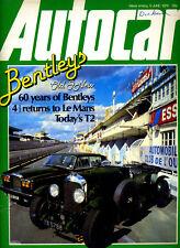 Autocar - 9th June 1979 Bentley Porche Carrera Subaru 1600 Mazda Montrose