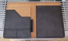 Genuine Saddleback Leather Old Style Script Logo MEDIUM NOTEPAD HOLDER in Black
