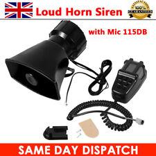 12V 7 Tone Sound Car Police Siren Horn + Mic PA Speaker System Fire Alarm Loud