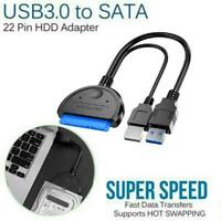For SATA to USB 3.0 2.5/3.5 inches HDD SSD Hard Drive Cable Line Converter J7M6