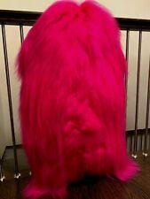 MODERN Dyed Hot Pink Cool SHEEPSKIN KIDS CHILDREN FUR RUG THROW DECOR 30/48