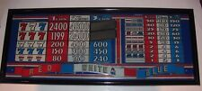 IGT Red White & Blue Slot Machine Glass Mirror Display In Black Frame