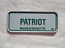 1988 MASSACHUSETTS Post Cereal License Plate # PATRIOT