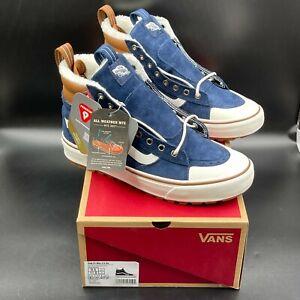 Vans SK8 Hi 2.0 DX Navy Brown Shoes, Men's Size 9.5 Sneakers