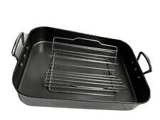 "Bialetti Roasting Pan Large 18"" Rectangular Roaster + Rack Turkey Oven Roasting"
