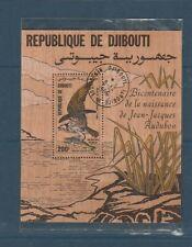 Djibouti  timbre bloc sur bois oiseau Audubon aigle balbuzard num: BF 4 oblitéré