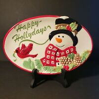Fitz and Floyd Snowman Plate