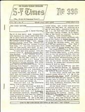 1960 fanzine Science Fiction Times #336 & #337 - Twilight Zone, Men Into Space