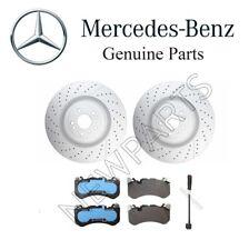 Mercedes GL63 AMG X166 C292 Set of Front Disc Brake Rotors Pads Sensor Genuine