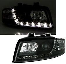 Scheinwerfer Set in Schwarz für Audi A4 8E LIMO + AVANT mit Tagfahrlicht Optik