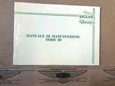 Manuale di Manutenzione, Jaguar XJ12 Serie 3, Italiano