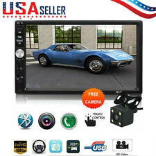 2DIN 7inch HD MP5/MP4 Player Bluetooth Car Stereo Radio Touch Screen+Rear Camera