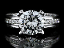 Not Enhanced Solitaire with Accents SI2 Fine Diamond Rings