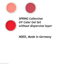 NDED Professional UV Color Gel Set Without Dispersion Layer SET 3x 5ml for Nails