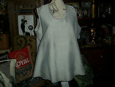 PLANET Regal Heather Gray Frayed Hem Silk Blouse Size 4