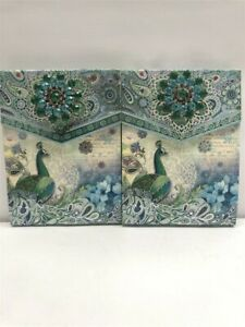 2 Punch Studio Decorative Brooch Note Pads 46501 Paisley Butterfly,Discontinued!
