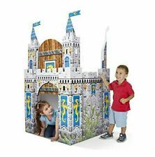 Medieval Castle Indoor Corrugate Playhouse Cardboard Tent Kids Fun Toy 5ft Tall
