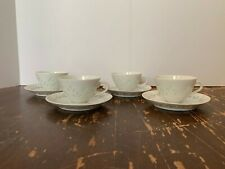 4 Vintage FRIEDL HOLZER-KJELLBERG Arabia Finland Rice Porcelain Cup and Saucer