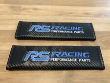 2X Seat Belt Pads Carbon Gifts Ford Focus RS Racing Heritage 2.3 EcoBoost Sport