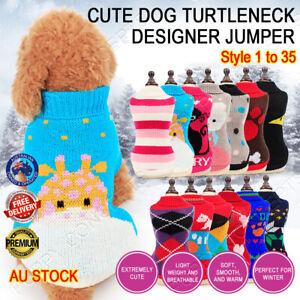 Turtleneck Designer Jumper Knitwear Coat Sweater Pet Dog Puppy Cat Style 1 - 35